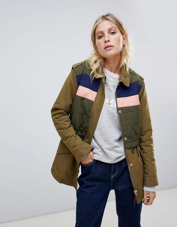 Maison Scotch utility jacket with padded body