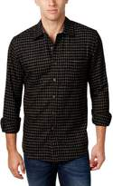 Club Room Mens Window Pane Long Sleeves Button-Down Shirt B/W 3XL