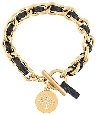 Mulberry Medallion Leather Chain Bracelet