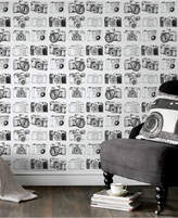 Graham & Brown Camera Black and White Wallpaper