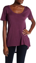 Allen Allen Hi-Lo Scoop Neck Tee