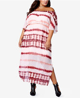 mblm by Tess Holliday Trendy Plus Size Tie-Dye Maxi Dress