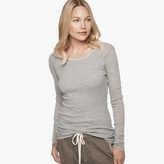 James Perse Cotton Cashmere Ribbed Crew