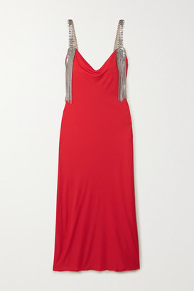 Christopher Kane Embellished Jersey Midi Dress - Red