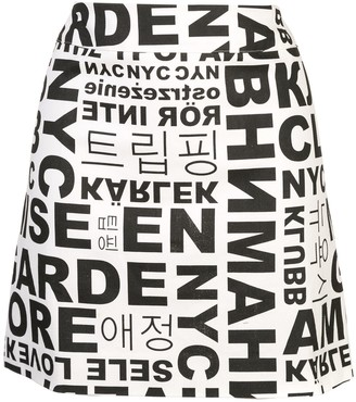 Nicole Miller Words and Letters mini skirt