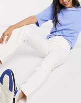 Weekday Rowe organic cotton straight leg jeans in white