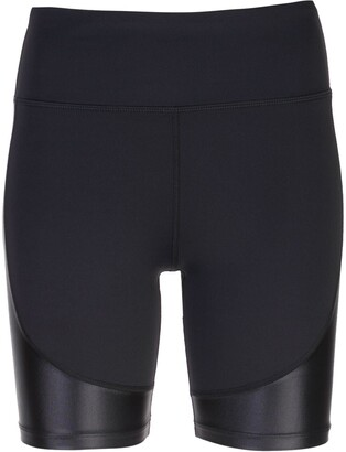 ALALA waxed panel shorts