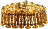 One Kings Lane Vintage Golden Topaz Tiered Crystal Bracelet