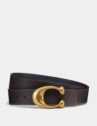 Coach Signature Buckle Reversible Belt, 38Mm