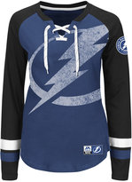 Majestic Women's Tampa Bay Lightning Hip Check Long Sleeve T-Shirt