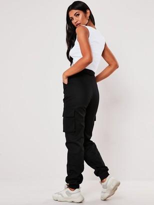Missguided Plain Cargo Trouser - Black