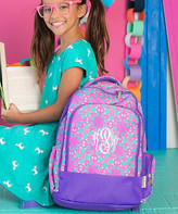 Designs By Two Greek Sisters Designs by Two Greek Sisters Backpacks - Purple & Pink Personalized Lila Backpack