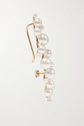 Sebastian Dream Buoy 10-karat Gold Pearl Earring - one size
