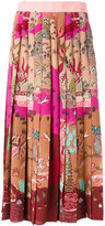 Valentino Garden Segments midi skirt - women - Silk - 40