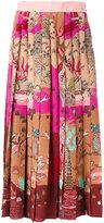Valentino printed midi skirt