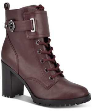 Tommy Hilfiger Prussia Lug Sole Booties Women's Shoes