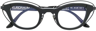 Kuboraum Double Frame Cat Eyes Glasses