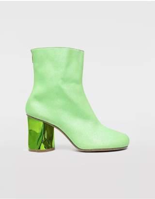 Maison Margiela Glitter Crushed Heel Ankle Boots