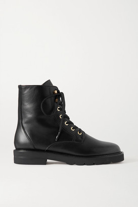 Stuart Weitzman Mila Leather Ankle Boots - Black