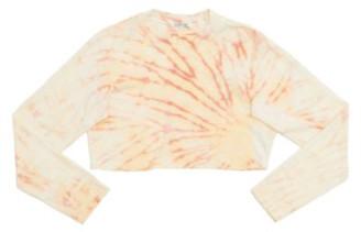 Cotton Citizen The Tokyo Crop Long Sleeve In Dahlia Prism - S