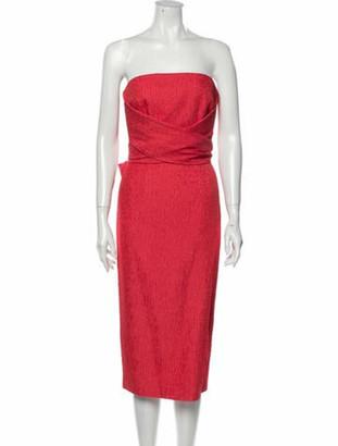 Rebecca Vallance Strapless Midi Length Dress w/ Tags Red