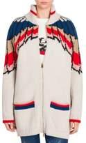 Stella McCartney Wool Zip Front Cardigan