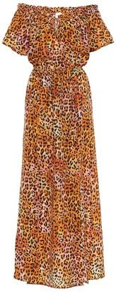 Anna Kosturova Exclusive to Mytheresa Leopard-print silk maxi dress