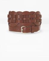 White House Black Market Braided Leather Belt