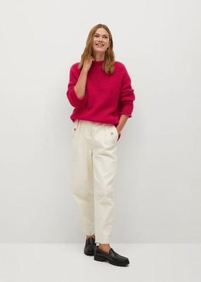 MANGO Textured knit sweater fuchsia - XS - Women