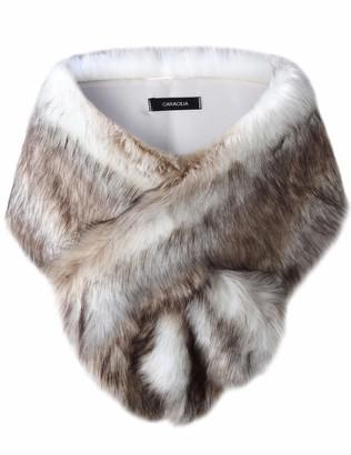 Caracilia Shawl Wrap Faux Fur Shrug Stole Scarf Winter Bridal Wedding Cover Up sansemao S CAFB3