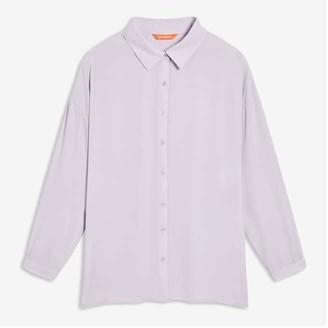 Joe Fresh Women+ Crepe Shirt, Light Lilac (Size 1X)
