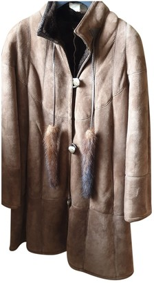 Shearling Brown Suede Coats