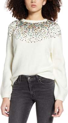 DREAMERS BY DEBUT Sequin Sparkle Sweater