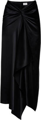 Magda Butrym Nancy Silk-Blend Pareo-Style Skirt