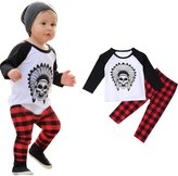 Susenstone 1Set Infant Toddler Baby Boys Printed T-shirt Tops+Pants Outfits Clothes