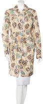 Rochas Floral Print Knee-Length Coat