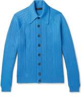 Prada Jacquard-Knit Virgin Wool Cardigan