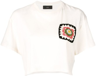 Alanui Crochet Logo Cropped Top