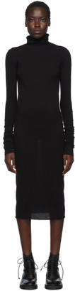 Rick Owens Lilies Black Jersey Turtleneck Dress