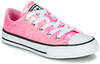 Converse CHUCK TAYLOR ALL STAR COATED GLITTER girls's Shoes (Trainers) in Pink