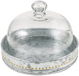 Southern Living Galvanized Iron Cake Plate with Glass Dome