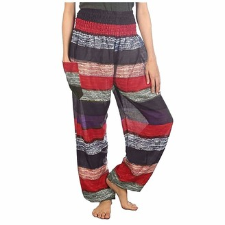 jieGorge Pants for Women Women Striped Printed High Waist Sexy Yoga Loose Pants Trousers Casual Pants