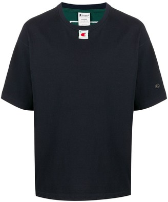 Champion Logo Print T-Shirt With Rear Stripe Detail