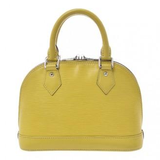 Louis Vuitton Alma BB Green Leather Handbags