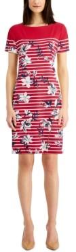 Karen Scott Striped Floral Dress, Created for Macy's