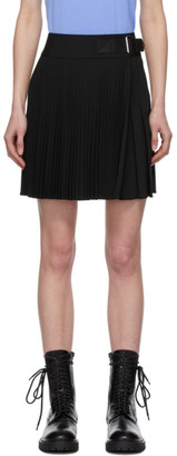 Helmut Lang Black Wool Mini Kilt Skirt