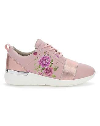 Jd Williams Floral Print Leisure Shoes EEE Fit