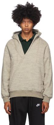 Bless Grey V-Hood Sweater