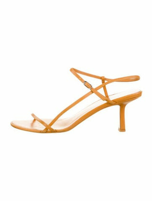 The Row Leather Ankle-Strap Sandals Yellow