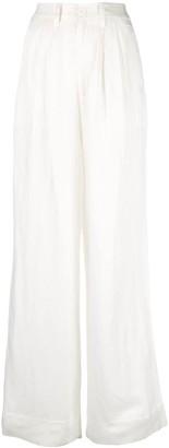 Anine Bing Carla high-waisted wide trousers